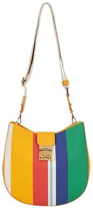 MCM Patricia Stripe Hobo Bag