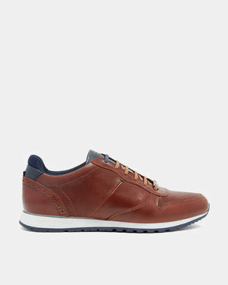 Ted Baker SHINDL Two-tone leather trim trainers