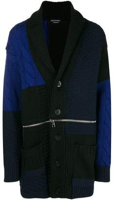 Alexander McQueen chunky knit buttoned coat