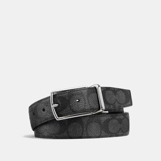 COACH Coach Modern Harness Cut-To-Size Reversible Signature Belt $150 thestylecure.com