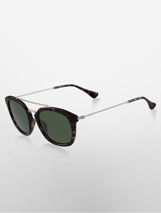 Calvin KleinPlatinum Cat-Eye High-Bar Sunglasses