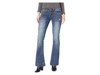 Rock and Roll Cowgirl Trousers Jeans in Medium Vintage W8-8732
