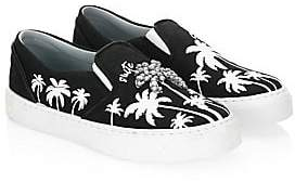 Chiara Ferragni Women's Slip-On Palm Tree Canvas Sneakers