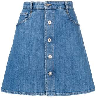 Miu Miu denim mini skirt