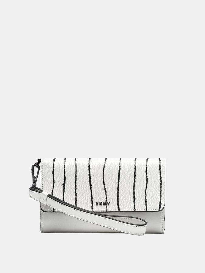 DKNYSaffiano Twine Stripe Tech Wristlet