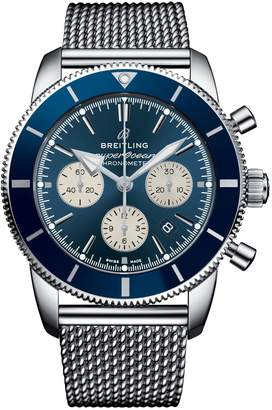 Breitling Stainless Steel Superocean Héritage II Chronograph Watch 44mm