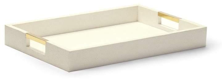 Shagreen Cream Modern Desk Tray