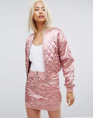 Missguided Barbie Quilted Bomber Jacket