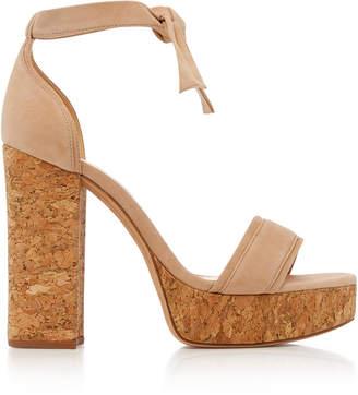 Alexandre Birman Celine Platform Suede Sandals