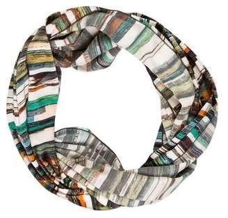 Zero Maria Cornejo Printed Silk Infinity Scarf