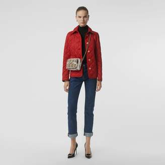 Burberry Diamond Quilted Jacket , Size: S, Red