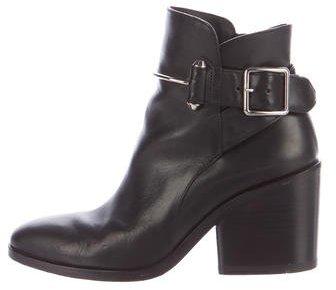 Balenciaga Balenciaga Round-Toe Leather Ankle Boots
