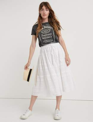 Lucky Brand Eyelet Tiered Skirt