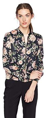 Daisy Drive Women's Floral Printed Bomber Jacket