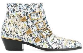 Chloé floral Susanna ankle boots