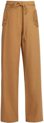 SIES MARJAN Wide-leg wool-twill trousers