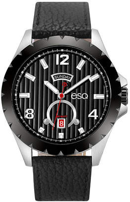 ESQ Men ESQ0073 Stainless Steel Watch, Black Dial, Day and Date Windows