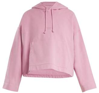Acne Studios Joghy Cotton Cropped Hooded Sweatshirt - Womens - Pink