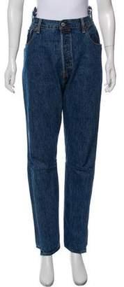 Vetements 2017 High-Rise Jeans