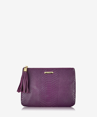 GiGi New York All in One Bag, Acai Embossed Python