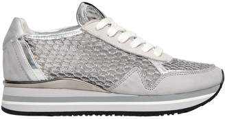 30mm Mesh & Leather Running Sneakers