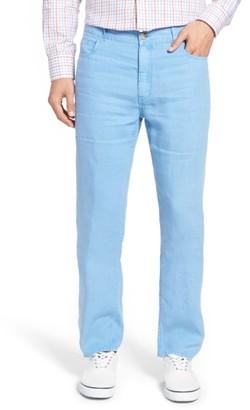 Men's Peter Millar Lookout Straight Leg Linen Pants $145 thestylecure.com