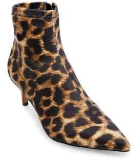 Betsey Johnson Verona Leopard-Print Point-Toe Booties