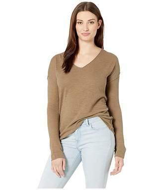 Elliott Lauren V-Neck Waffle Knit Sweater
