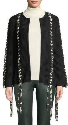 Tabula Rasa Sousi Zip-Front Tie Cardigan