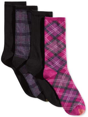 Gold Toe 4-Pk. Tartan Plaid Crew Socks 5974F
