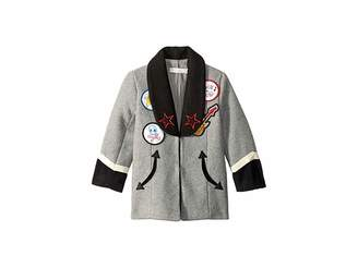 Stella McCartney Graig Shawl Embroidered Jacket (Toddler/Little Kids/Big Kids)