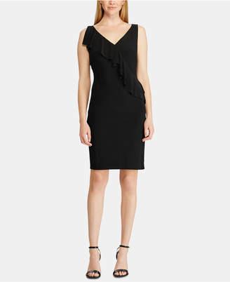American Living Ruffle-Trim Jersey Dress