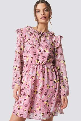 Glamorous Flower Printed Mini Dress Mauve Floral
