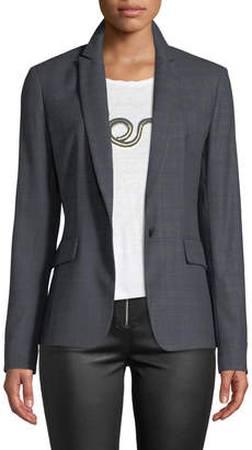 Rag & Bone Lexington Check Wool Blazer Jacket
