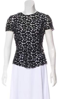 Nina Ricci Open Lace Short Sleeve Top