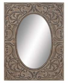 Benzara Flawless Metal Mirror For Full View