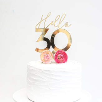 Here's To Us 'Hello 30' Cake Topper