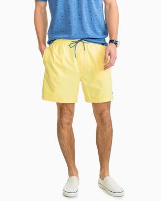 Southern Tide Packable Travel-Ready Solid Swim Trunk