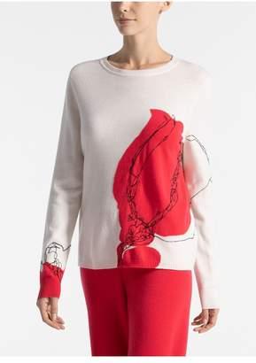 St. John Jersey Cashmere Knit Sweater