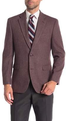 Tommy Hilfiger Wine Tan Weave Two Button Notch Lapel Classic Fit Blazer