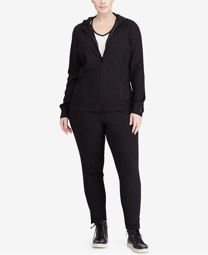 Lauren Ralph Lauren Plus Size Long-Sleeve Ponte Hoodie