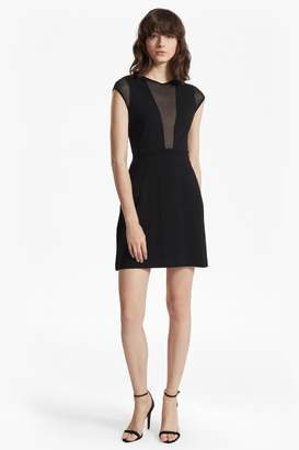 French Connection Marie Chiffon Mesh Panelled Mini Dress