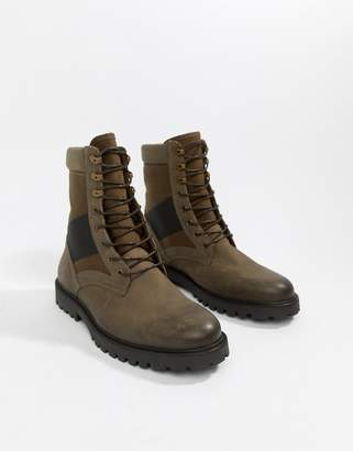Zign Shoes military boots in khaki