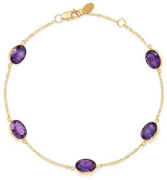 Bloomingdale's Amethyst Bezel Set Station Bracelet in 14K Yellow Gold - 100% Exclusive