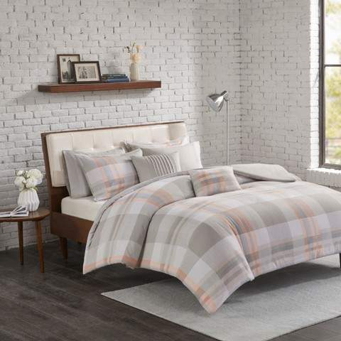 Blush Jones Cotton Flannel Duvet Cover Set
