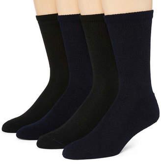 Dr. Scholl's Dr. Scholls Diabetes And Circulatory 4 Pair Crew Socks-Mens