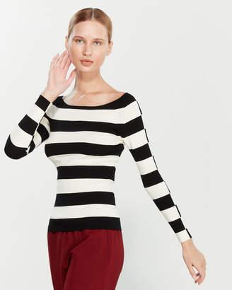 Liviana Conti Rugby Stripe Stretch Sweater