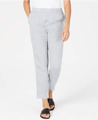 Eileen Fisher Organic Linen Slouchy Ankle Pants, Regular & Petite
