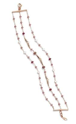 Nadri Multistrand Crystal & Stone Bracelet