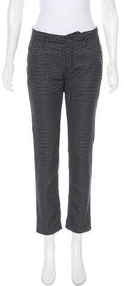 Raven Mid-Rise Houndstooth Pants